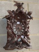 A late 19th century Black Forest cuckoo clock, lacking parts, W.36cm, D.18cm, H.57cmCONDITION: Has