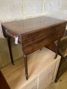 A Regency mahogany Pembroke table, width 76cm, depth 46cm, height 71cm
