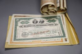 Eight Chinese bond certificates and four American bond certificates