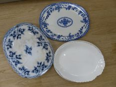 Ten mixed ceramic meat dishes