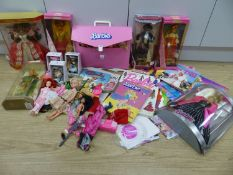 Six various Barbie dolls and other Barbie and doll related ephemeraCONDITION: 2nd Edition French