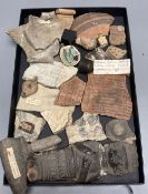 A group of Ancient Greek, Roman and Byzantine pottery and marble fragments many with Victorian