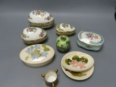 A collection of small ceramics, to include four items of Moorcroft, a Campanula pattern oval box and