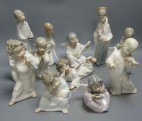 Twelve Lladro religious figures