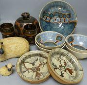 Assorted Winchcombe studio pottery