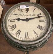 A Brillie electrique black painted metal dial slave timepiece, 40cm diameter