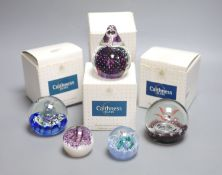 A collection of Caithness and other paperweights