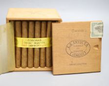 An unsealed case of Coronas cabinet selection Jamaican cigars