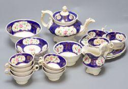 A Victorian Continental porcelain teaset