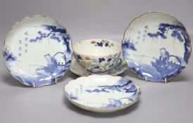 A group of early Japanese Arita wares, 17th to early 18th century