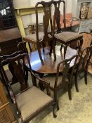 A set of eight early 20th century Queen Anne style mahogany dining chairs (two arm, six single)