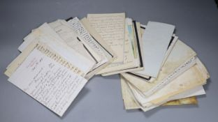 Louise Mac. A collection of approx. 100 letters from a Victorian vicars wife, mainly family