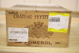 Twelve bottles of Chateau Feytit-Clinet - Pomerol OWC, 2001
