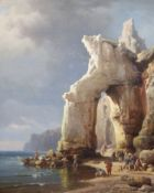 Charles E. Kuwasseg (1838-1904)oil on canvasThe Sailor's Landingsigned and dated 187123.5 x 19in.