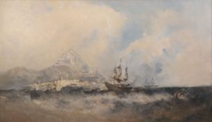 William McAlpine (fl.1820-1883)oil on canvasShipping off the coast of Hong Kongsigned29 x 49.5in.