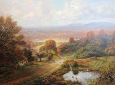 George William Mote (1832-1909)oil on canvasLandscape near Guildfordsigned and dated 1878, Cider
