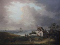 George Morland (1763-1804)oil on canvasWeymouth bay with a distant view of the harbour and