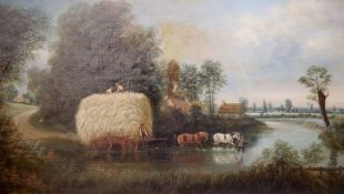 Edward Priestley (1820-1880)pair of oils on canvasExtensive landscape with shepherd and flock,