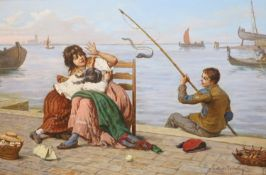 Antonio Ermolao Paoletti (1833-1912)oil on canvas'Catching a farter'signed and inscribed