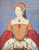 After Master Johnoil on panelPortrait of Queen Mary, 154416 x 12.75in.