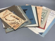 A quantity of silent movie programmes, some 1920s