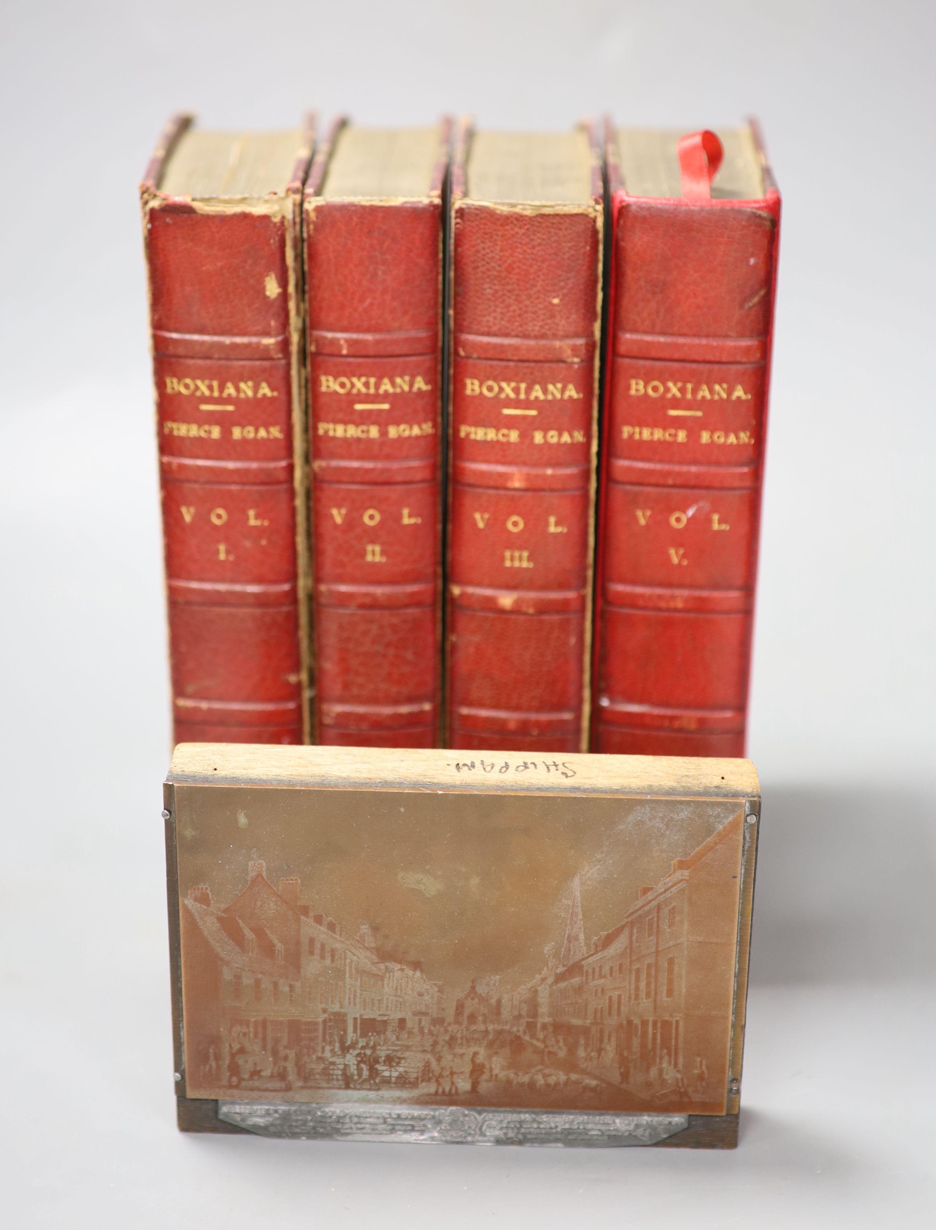 Egan, Pierce - Boxiana, 4 vols, 1818 and a book plate