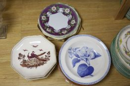 A group of 19th century Wedgwood bone china, creamware and stone china plates and dishes (17)
