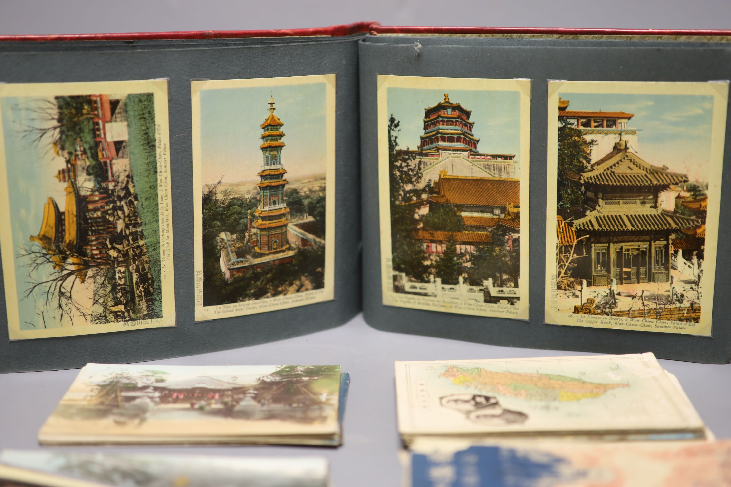 China, Japan and S.E Asia, early 20th century - an album of postcards, including views of the - Image 4 of 6