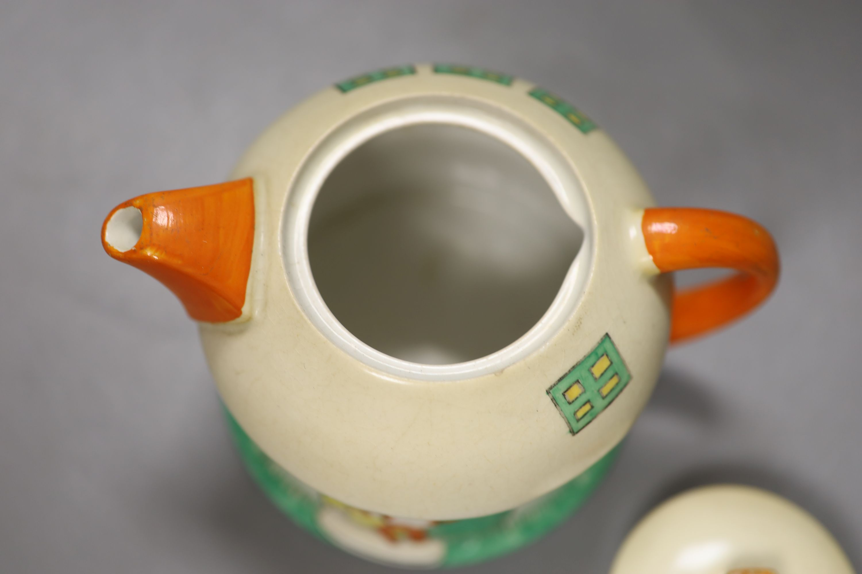 A Shelley Mabel Lucie Attwell toadstool teapot, height 11cmCONDITION: Neck rim flange very small - Image 3 of 4