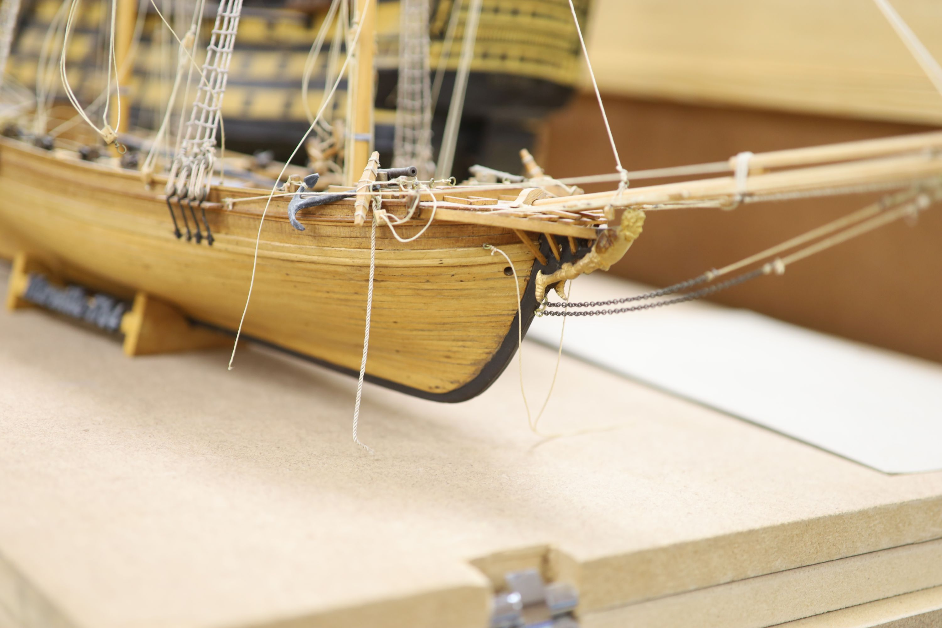 A model of 'The Victory', width 90cm, and a model of 'The Marseille' - Image 4 of 8