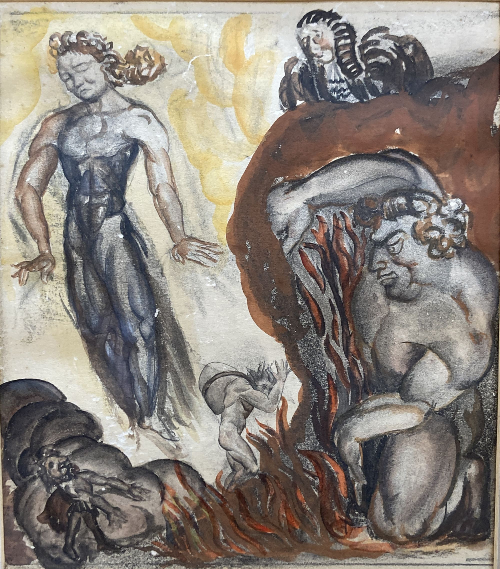 Catherine Moody (1920-2009), watercolour, 'What dost thou hae Christian?' - Pilgrim's Progress, - Image 3 of 6