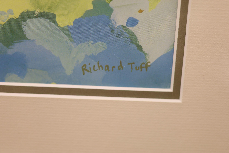 Richard Tuff (1965-), colour print, Fishing village, 38 x 53cm - Image 3 of 3