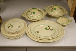 A Royal Doulton part service 'Lynn' pattern including two tureensCONDITION: One 10.5in. plate