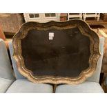 A Victorian B. Walton & Co papier mache tray, 82 x 62cm