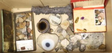 Two boxes of geological specimens, collected before 1970,CONDITION: Provenance - T. Gerrard & Co