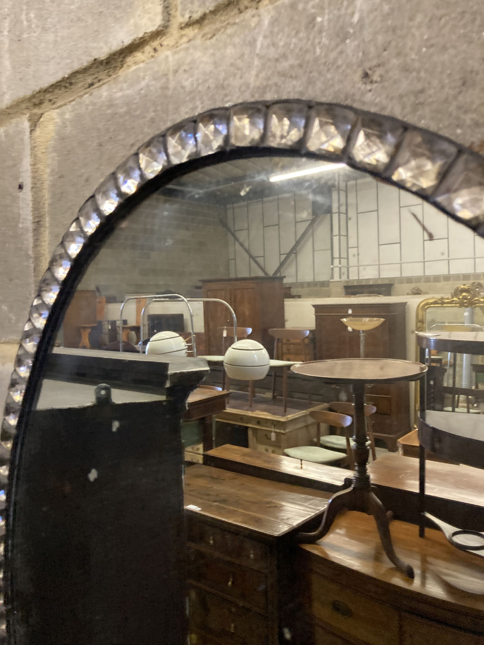 An Irish style oval wall mirror, width 58cm, height 76cm - Image 3 of 4
