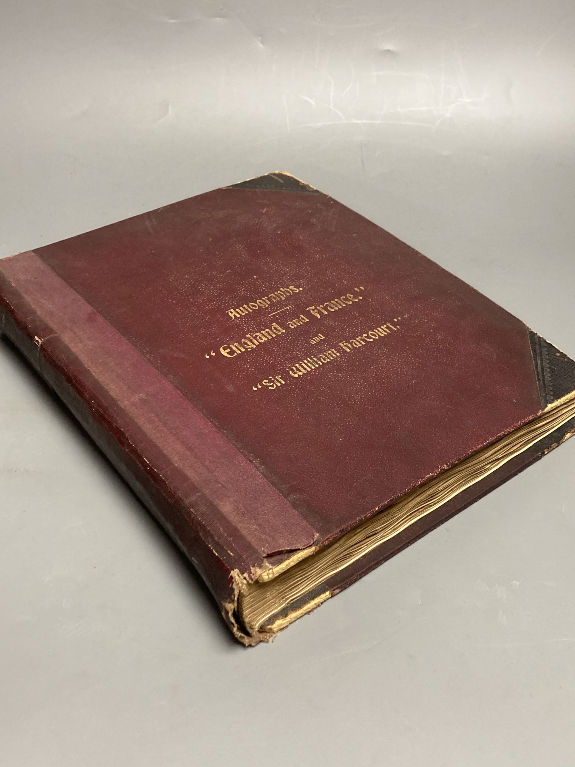 An autograph album of notable Edwardian and 1920s people