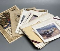"""A quantity of trooping the colour programmes """"some signed by officers and other military ephemera"""