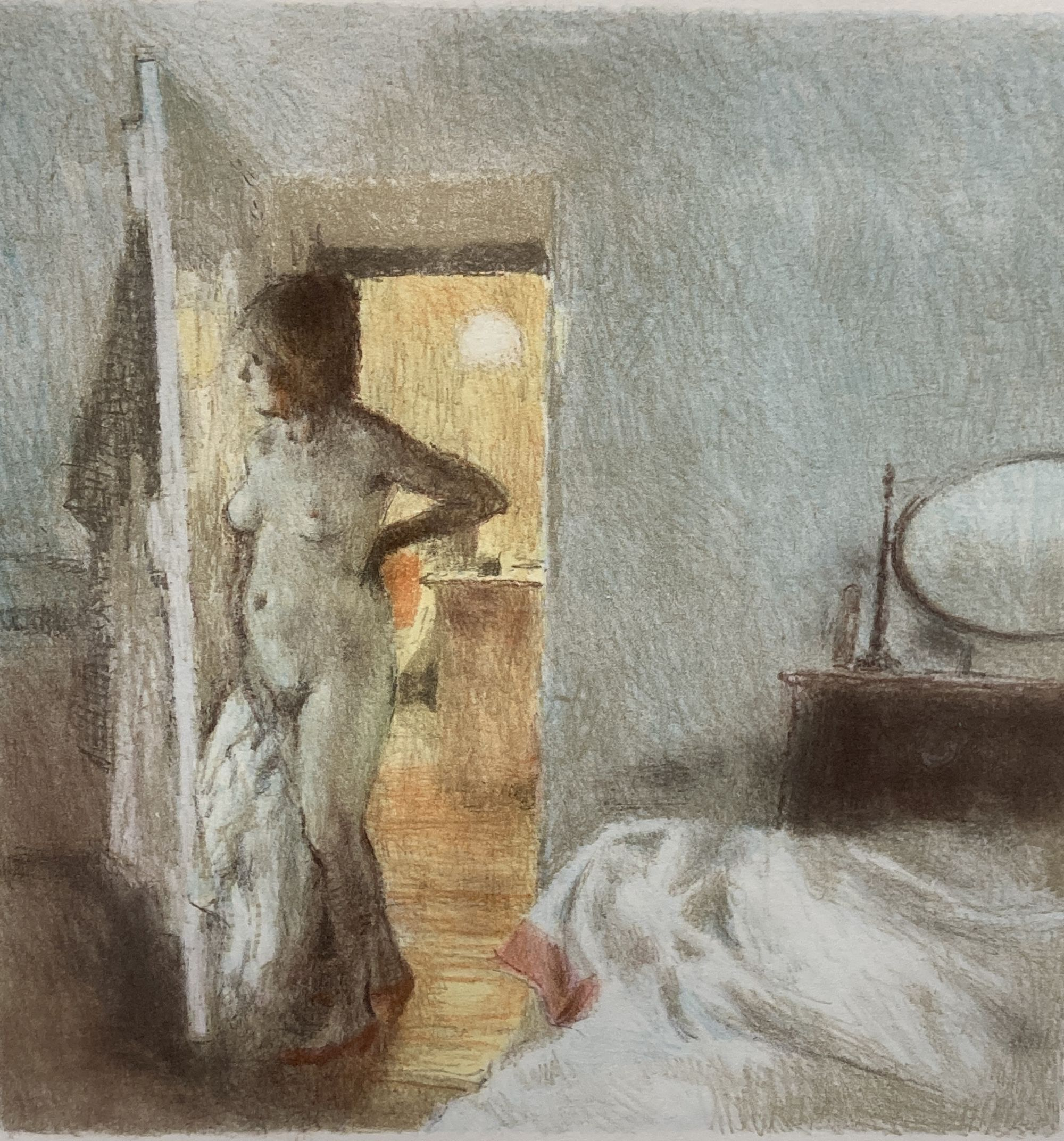 Bernard Dunstan (1920-2017), lithograph, 'Nude I', signed in pencil, 12/95, 40 x 39cm.