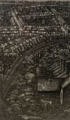 Michael Grey-Jones (1950-), etching, Chatham, signed in pencil, number 33/50, 33 x 20cm
