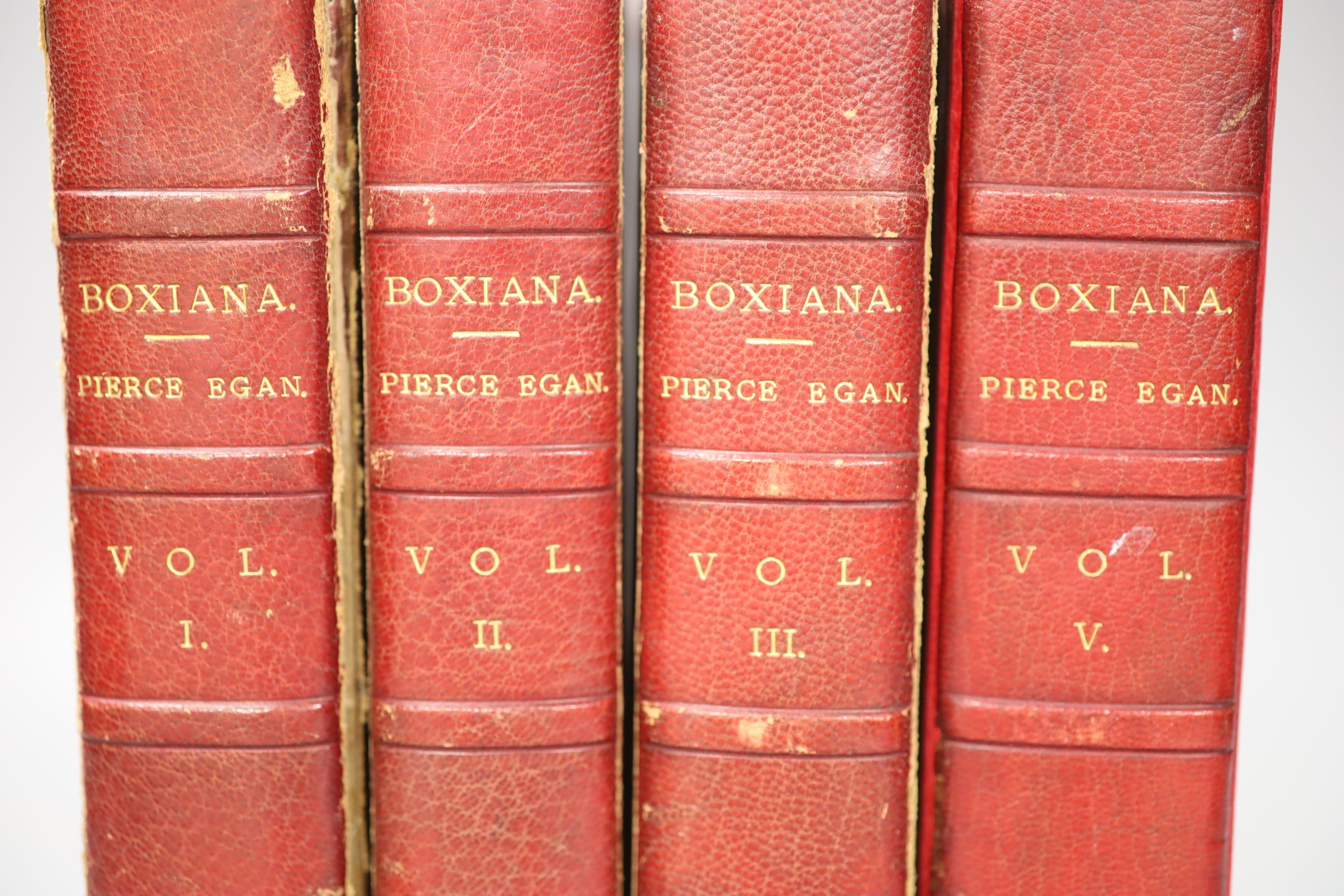 Egan, Pierce - Boxiana, 4 vols, 1818 and a book plate - Image 3 of 3