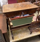 A mahogany work table, width 59cm, depth 42cm, height 75cm