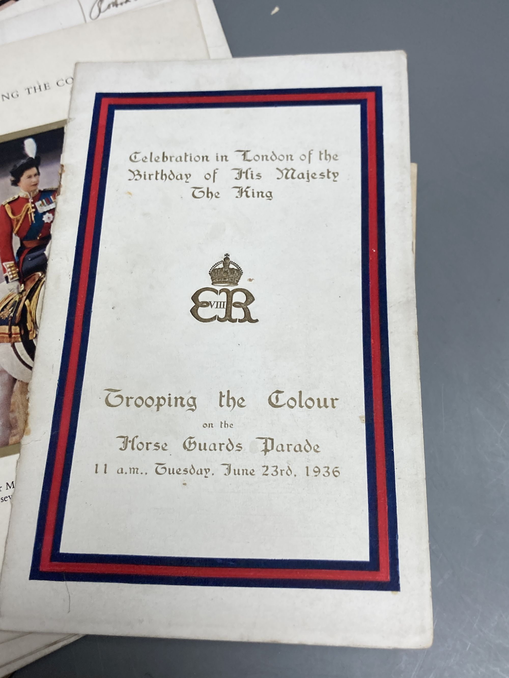 """A quantity of trooping the colour programmes """"some signed by officers and other military ephemera - Image 4 of 6"""