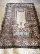 A North West Persian prayer rug, 190 x 130cm