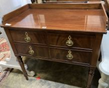 A Victorian mahogany washstand with gallery top, width 87cm, depth 53cm, height 87cm