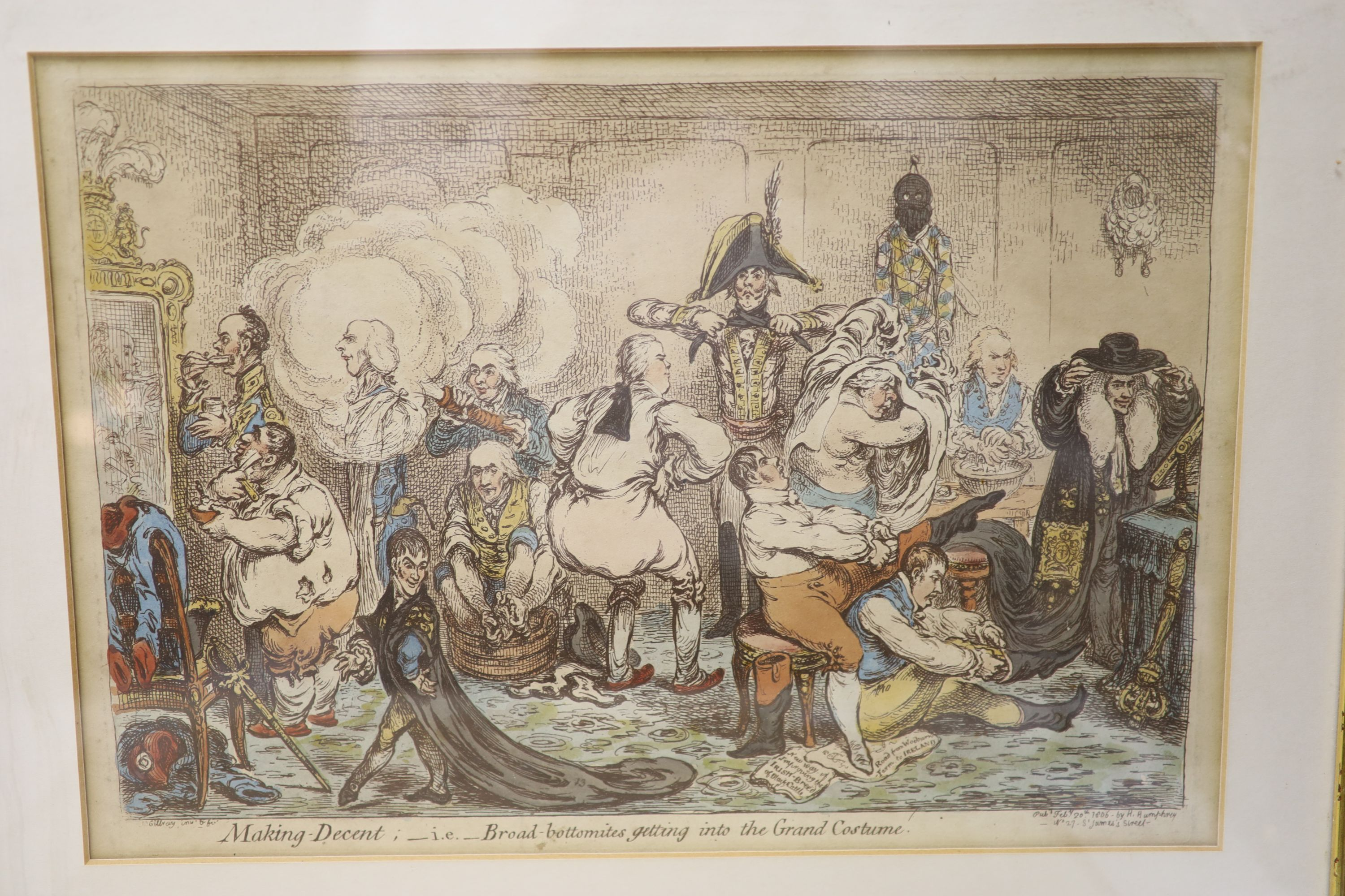 Boehm after Gillray, seven engravings, Caricatures including 'Political Dreamings', 'Political - Image 3 of 8