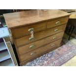 A George III mahogany chest, width 114cm depth 56cm height 92cm