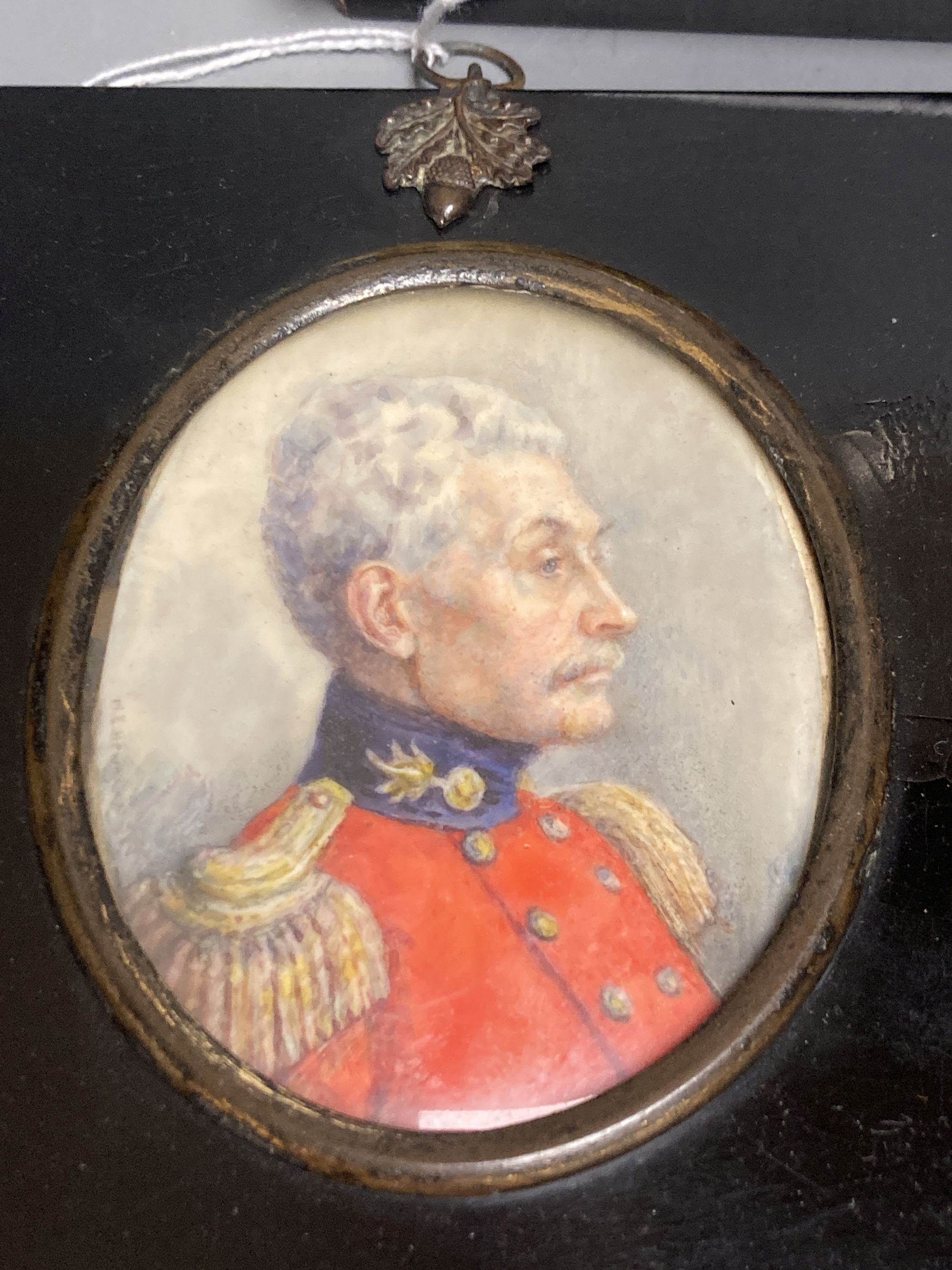 Marion Edith Hewkley (aka Sutherland Gill,19th/20th century), five miniature portraits, circa - Image 3 of 5