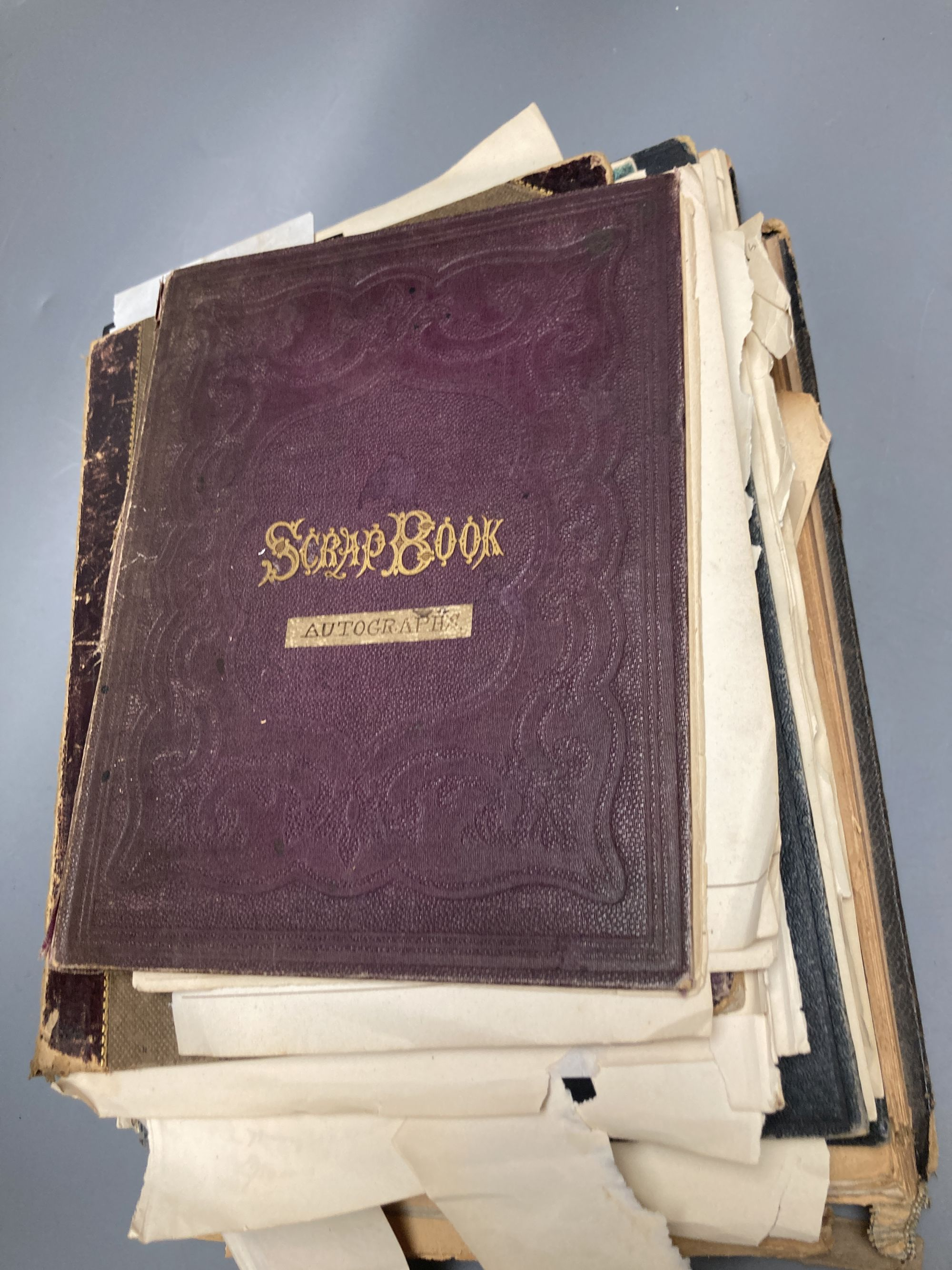 Various autograph albums, famous people of the day, Victorian and later - Image 2 of 5