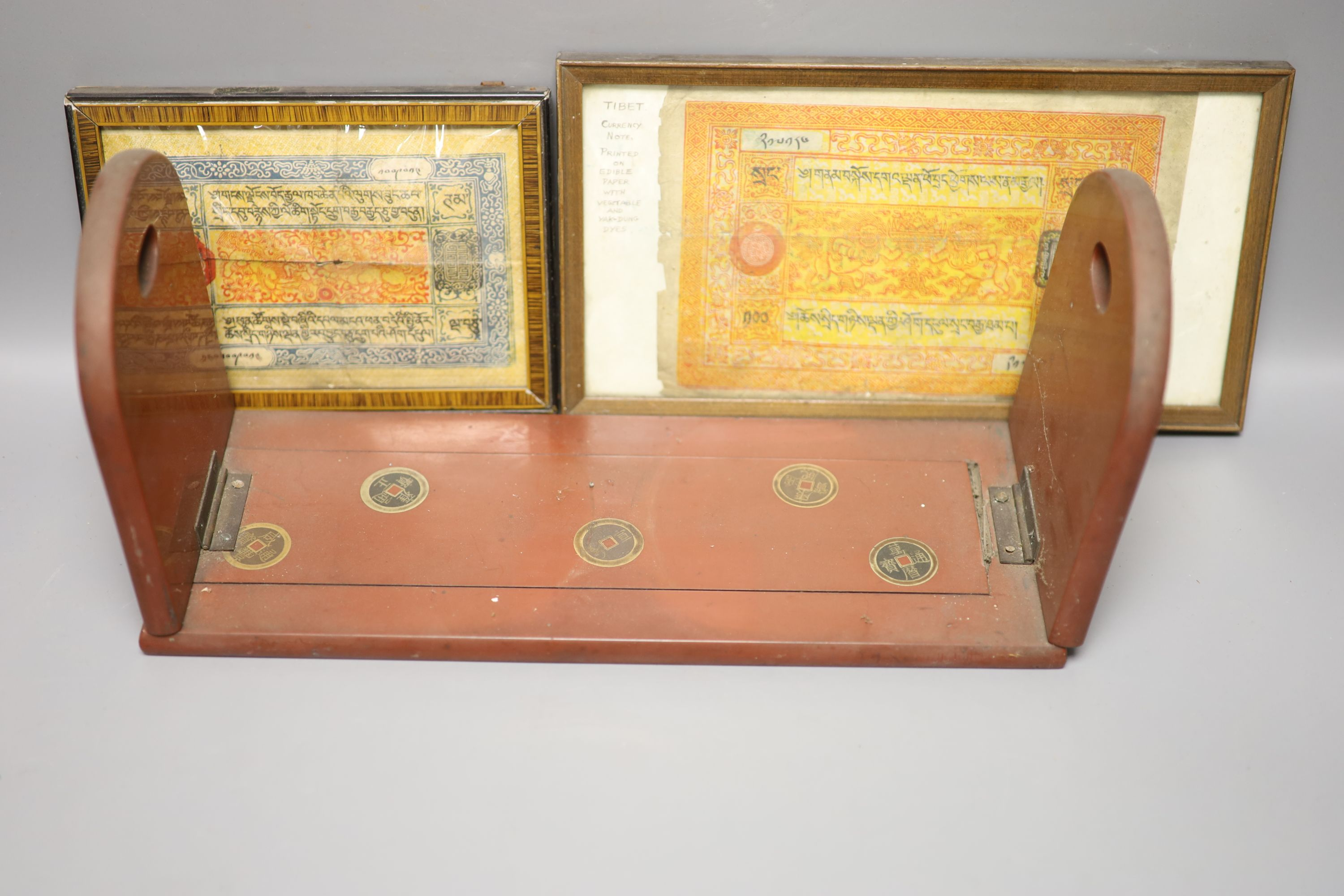 A group of Chinese and Japanese objects, 19th/20th century, including an inscribed ink box an - Image 12 of 17